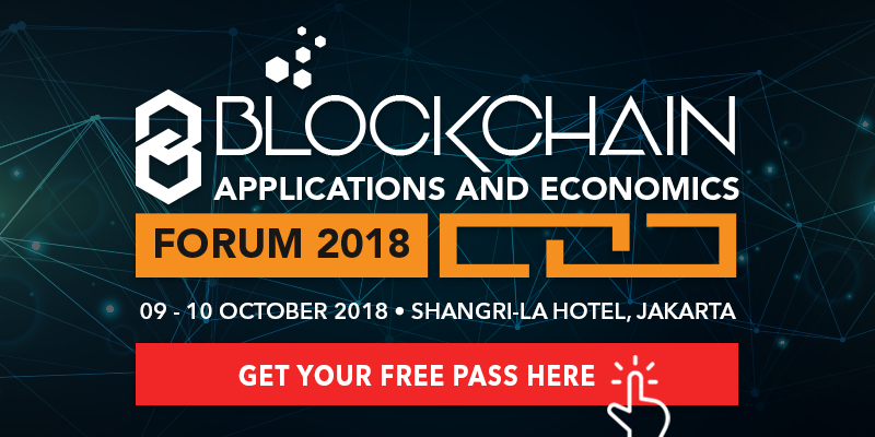 Adglink partnered up with Blockchain Applications and Economics Indonesia Forum 2018